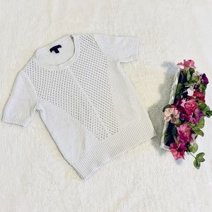 BANANA REPUBLIC White Semi Crochet Top 🤍